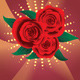 Card with Red Roses - GraphicRiver Item for Sale