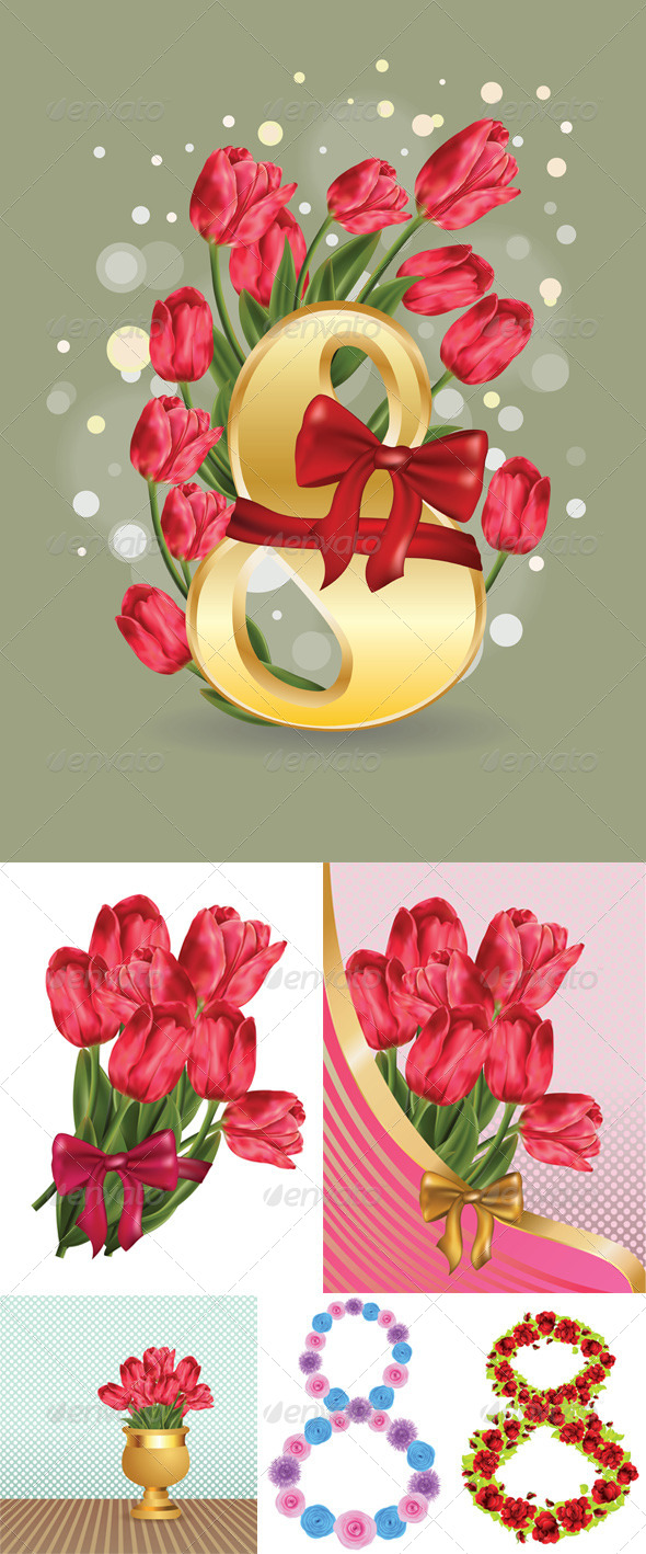GraphicRiver Greeting Card with Flowers 8543380