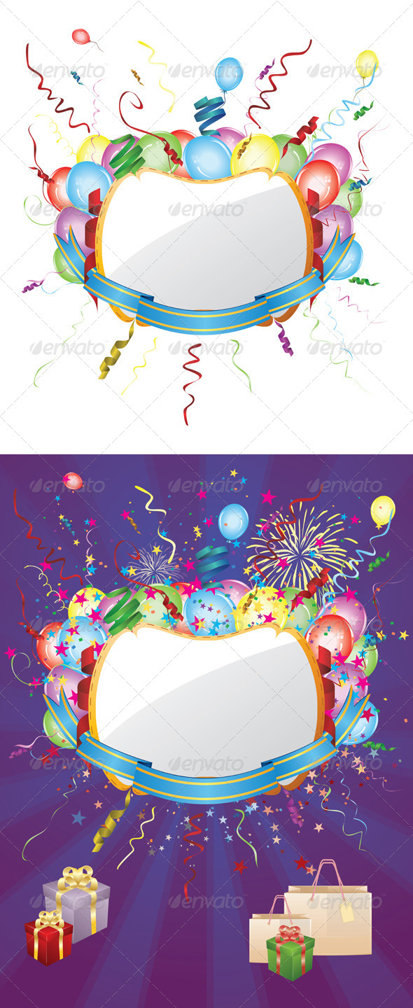 GraphicRiver Party Invitation Card with Balloons 8543383