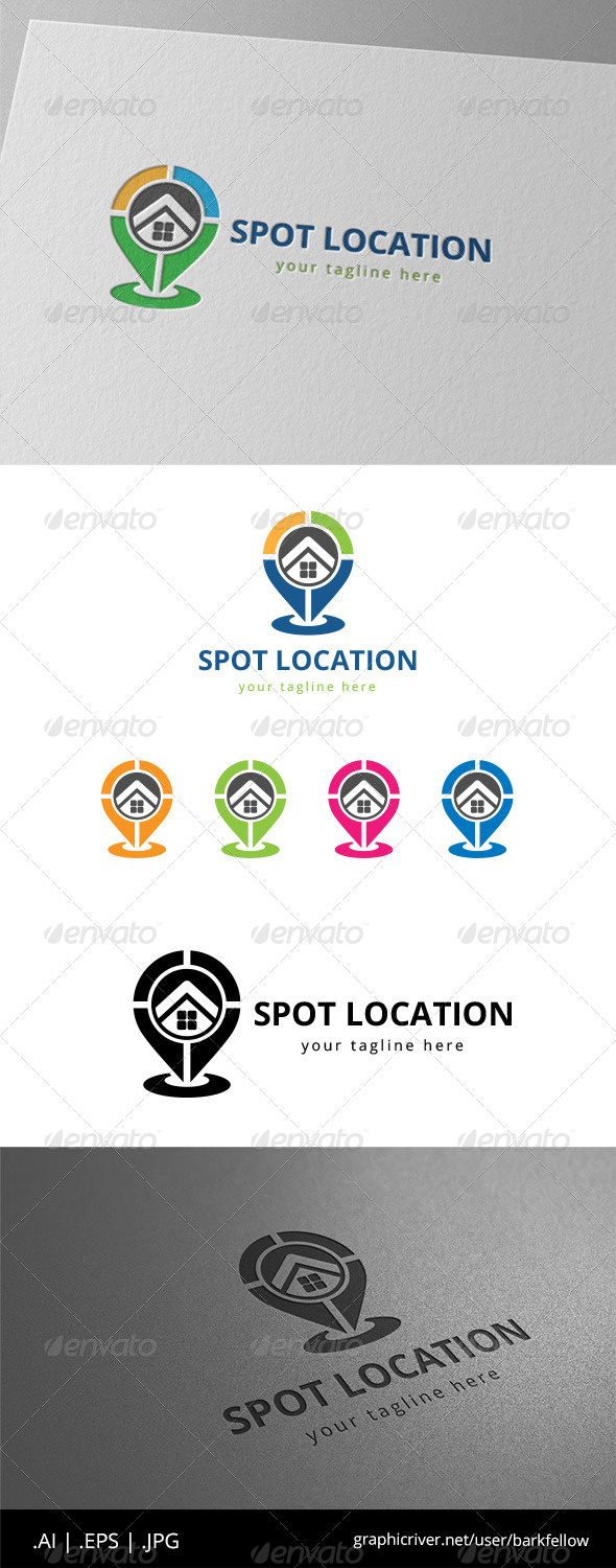 GraphicRiver House Place Finder Location Logo 8543744