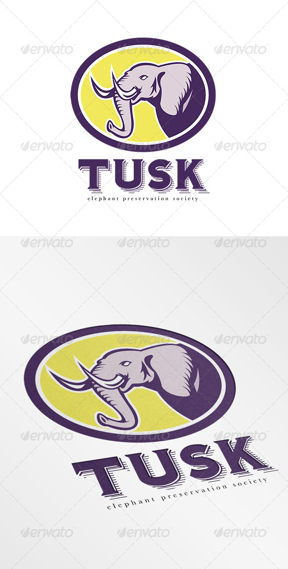 GraphicRiver Tusk Elephant Preservation Society Logo 8543768