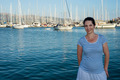 Smiling woman in Lefkada port - PhotoDune Item for Sale