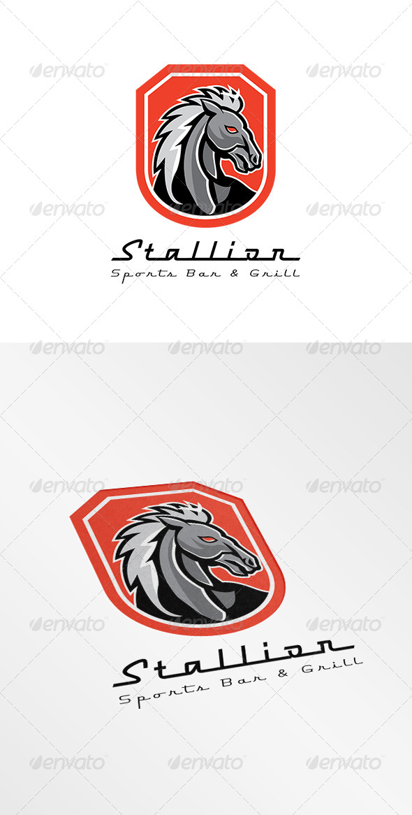GraphicRiver Stallion Sports Bar and Grill Logo 8543792