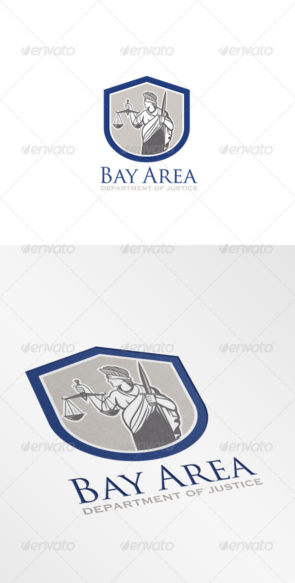 GraphicRiver Bay Area Department of Justice Logo 8543802
