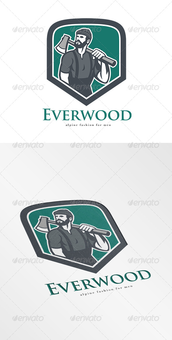 GraphicRiver Everwood Alpine Fashion for Men Logo 8543873