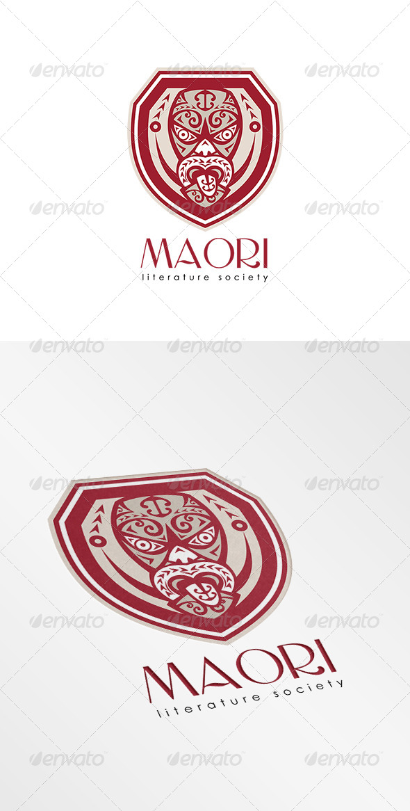 GraphicRiver Mask Literature Society Logo 8543884