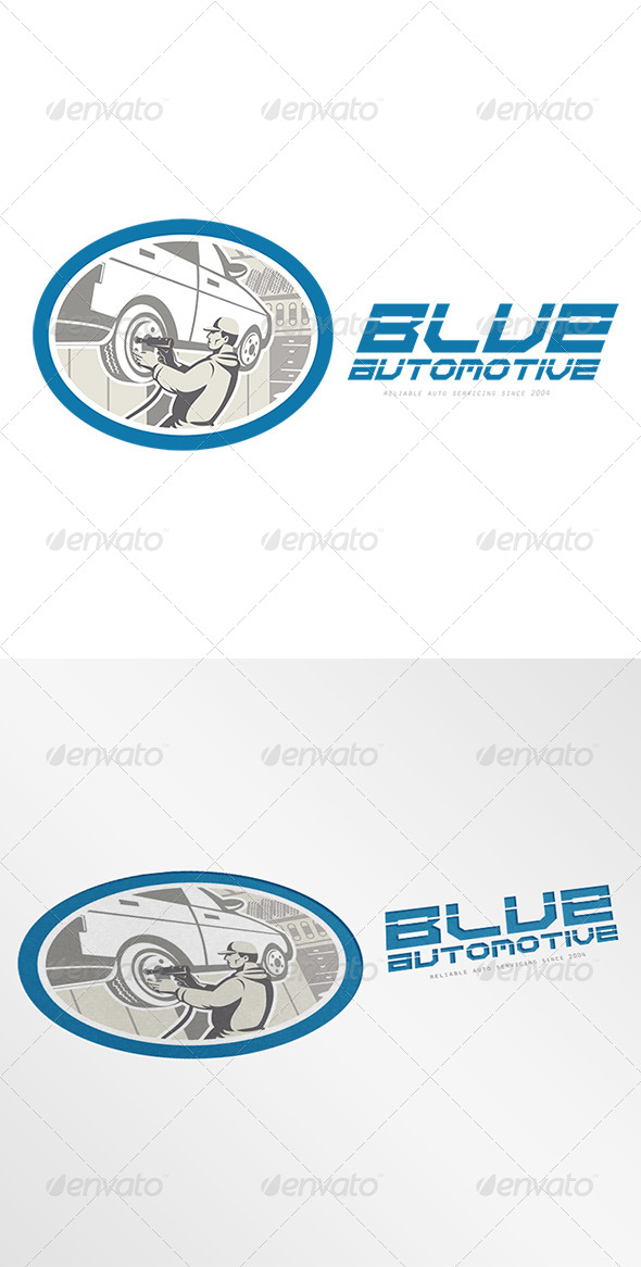 GraphicRiver Blue Automotive Logo 8543898