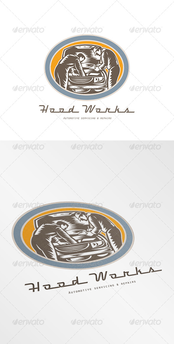 GraphicRiver Hood Works Automotive Servicing Logo 8543904