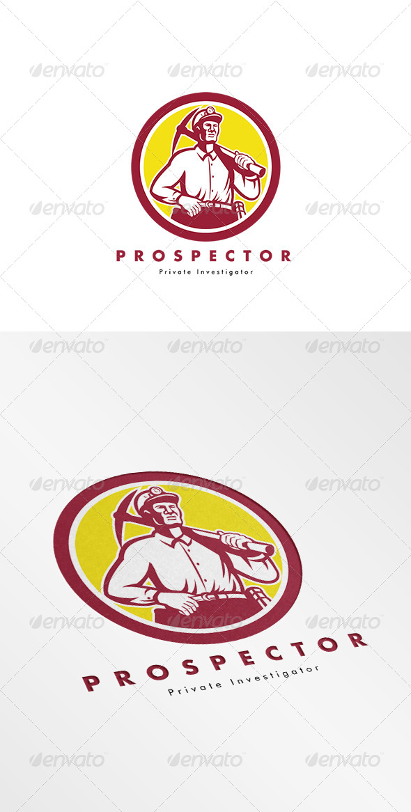 GraphicRiver Prospector Private Investigator Logo 8543953