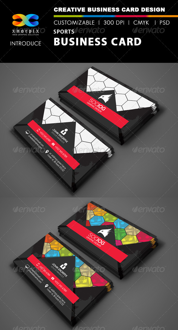 GraphicRiver Sports Business Card 8543961