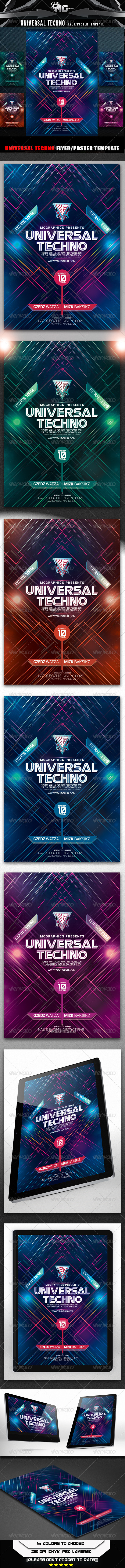 GraphicRiver Universal Techno Flyer Poster Template 8543982