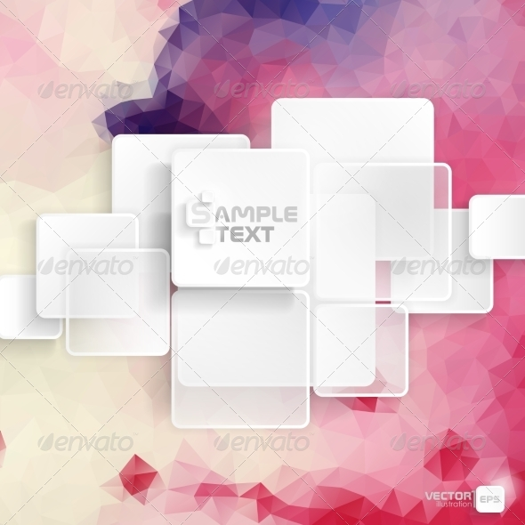 GraphicRiver White Square Element On Stripes Background 8544127
