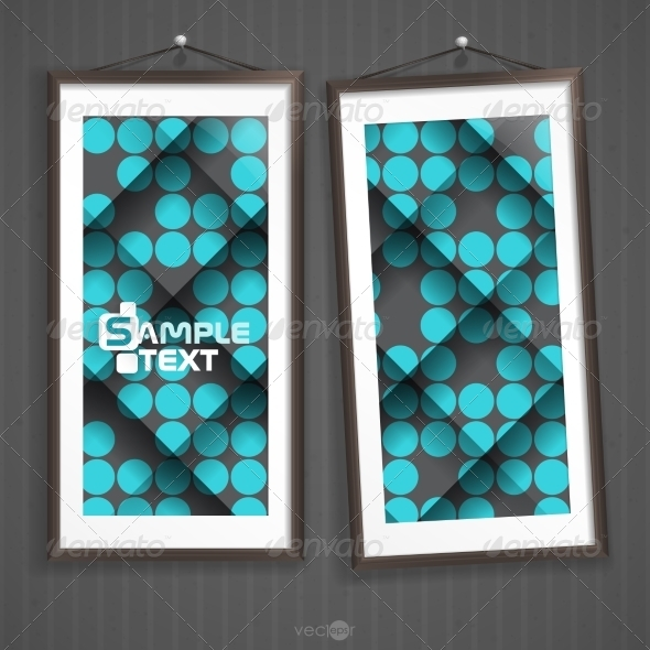 GraphicRiver Two Frames Of Picture On A Striped Old Wall 8544148