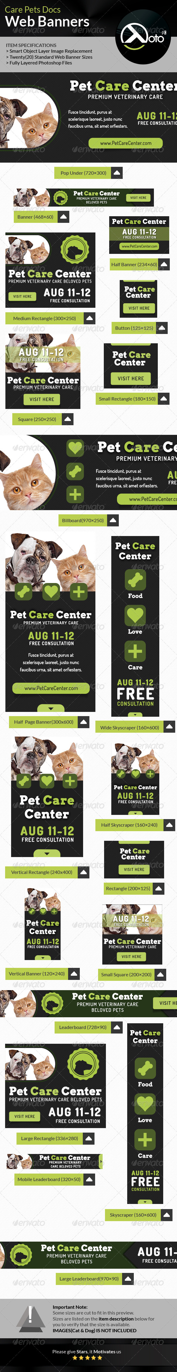 GraphicRiver Care Pets Docs Veterinary Web Banner 8544186