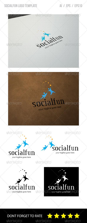 GraphicRiver Social Fun Logo Template 8544201