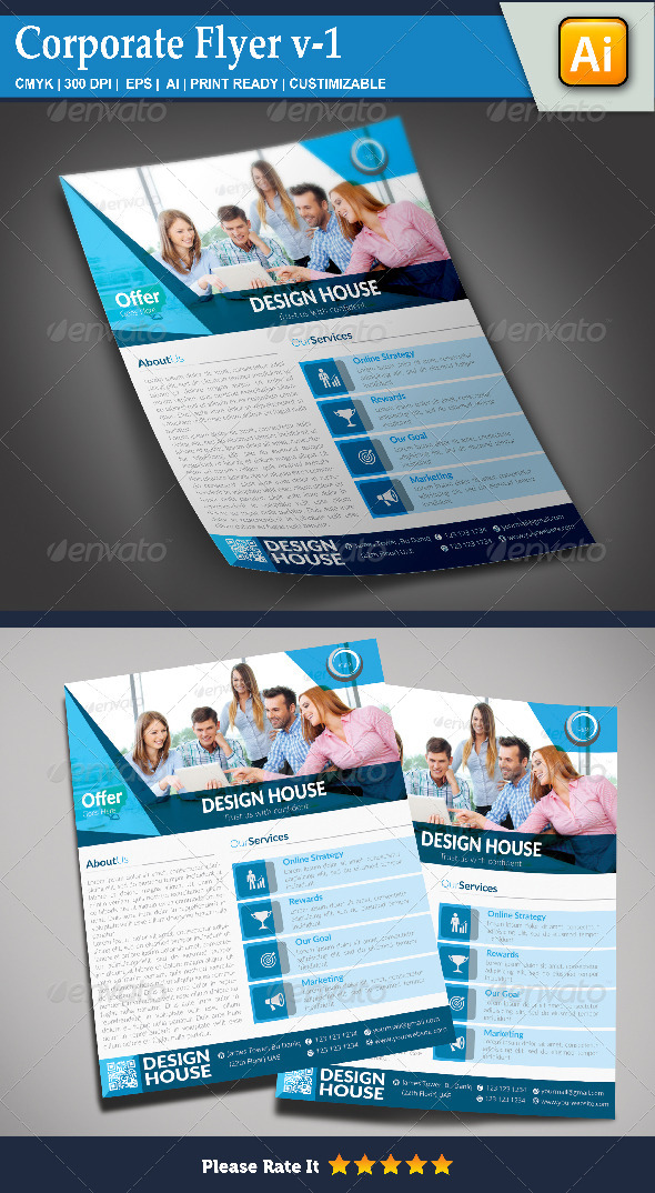 GraphicRiver Corporate Flyer v-1 8544212