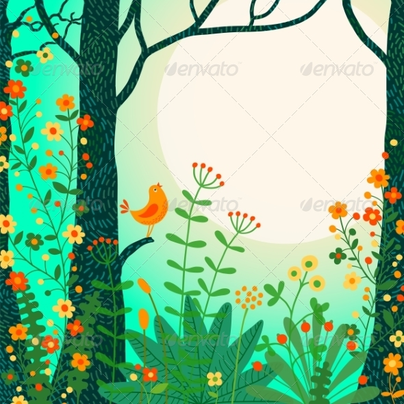 GraphicRiver Forest Landscape 8544318