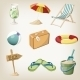 Beach Items Set. Travel, Vacation Items. - GraphicRiver Item for Sale