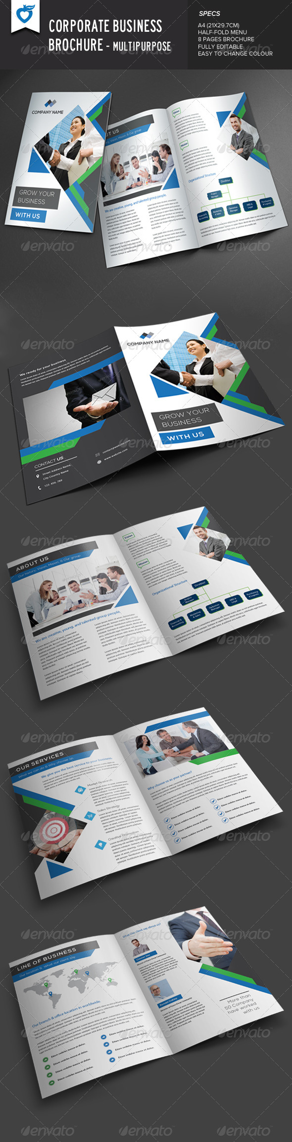 GraphicRiver Corporate Business Brochure Multipurpose 8544366