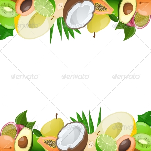 GraphicRiver Two Borders made of Delicious Ripe Fruit 8544371