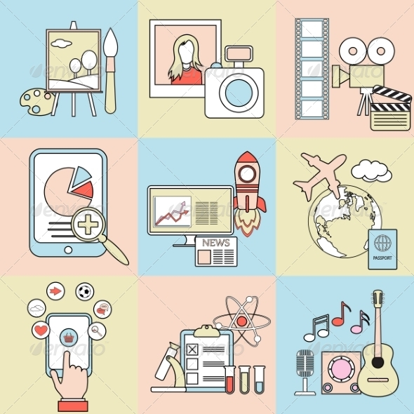GraphicRiver Abstract Flat Concepts 8544372