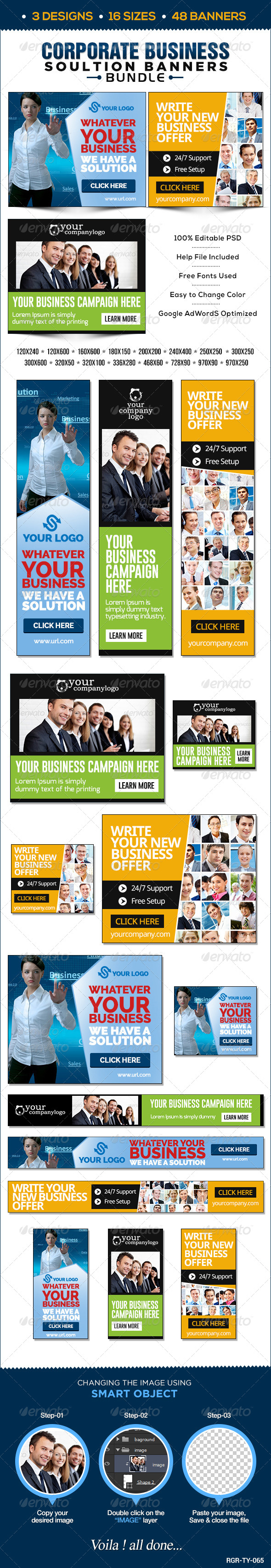 GraphicRiver Corporate Banners Bundle 3 Sets 8544455