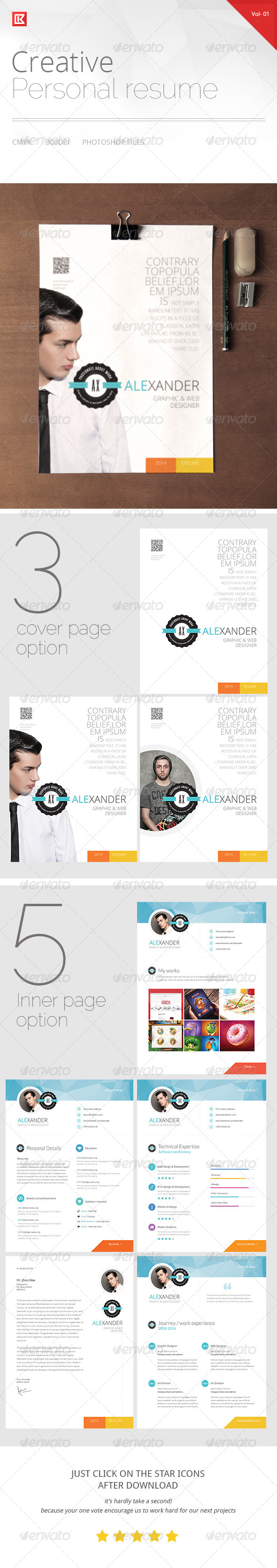 GraphicRiver Creative Personal Resume and CV 8544640