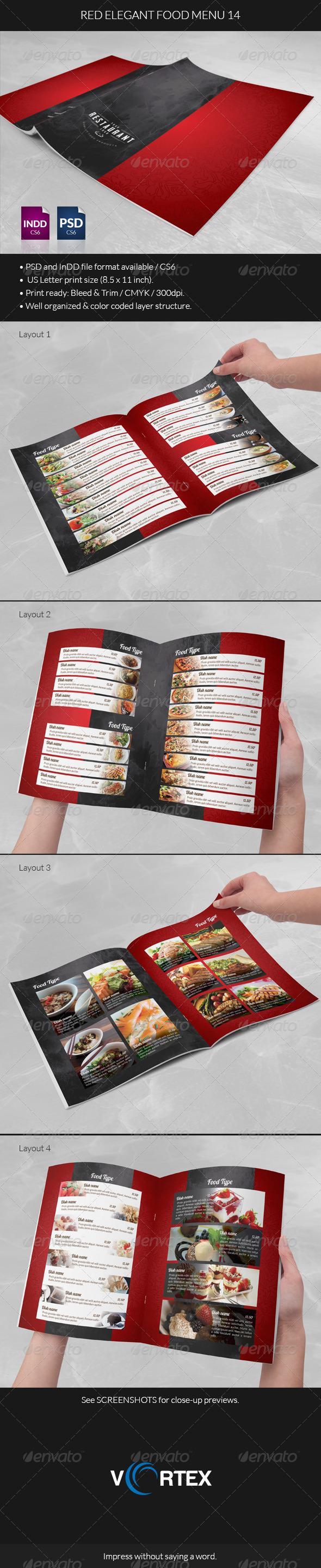 GraphicRiver Red Elegant Food Menu 14 8544647