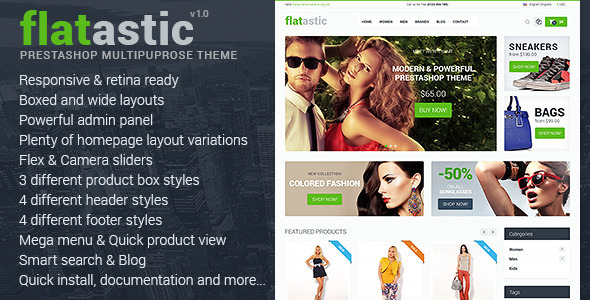 ThemeForest Flatastic Premium Multipurpose PrestaShop Theme 8544660