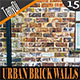 Urban Brick Wall Backgrounds - GraphicRiver Item for Sale
