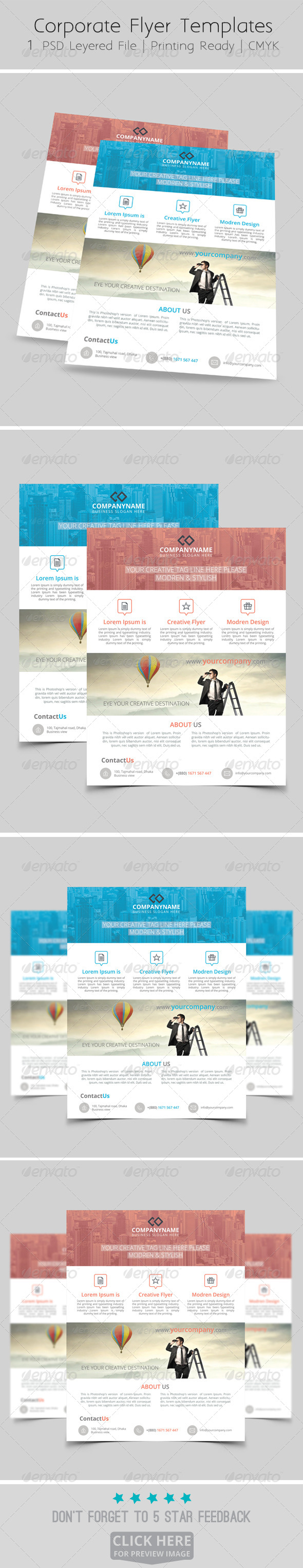 GraphicRiver Modern Corporate Flyer Templates 8544678