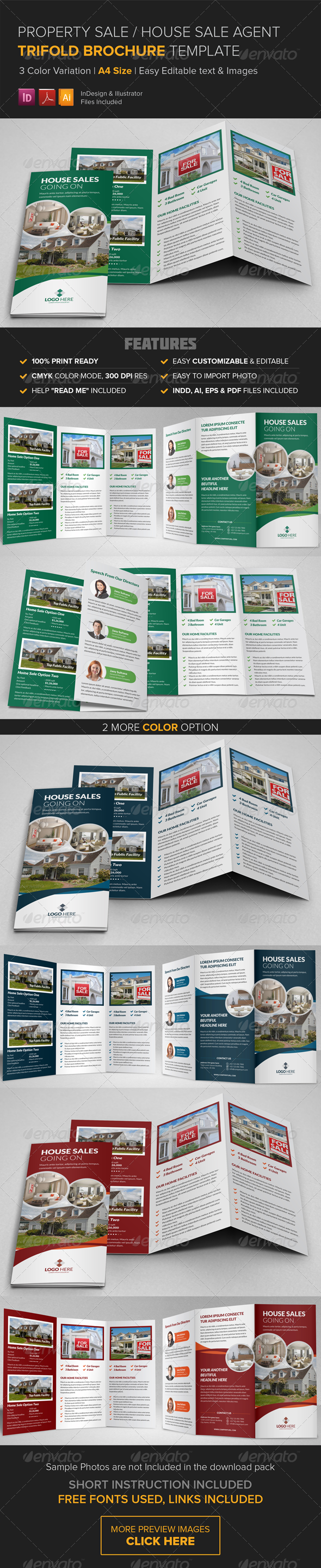 GraphicRiver Property Sale Trifold Brochure Template 8544712
