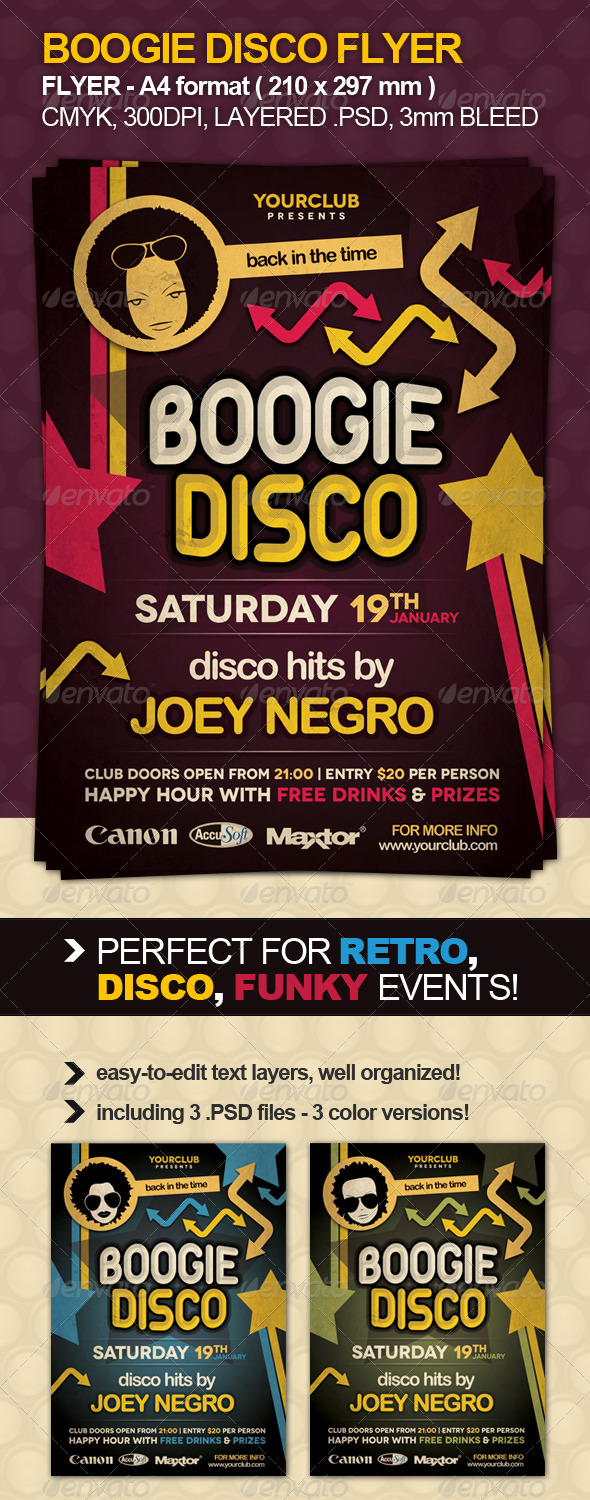 GraphicRiver Boogie Disco Flyer 868791