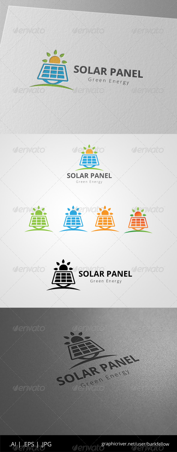 GraphicRiver Solar Panel Green Energy Logo 8544749