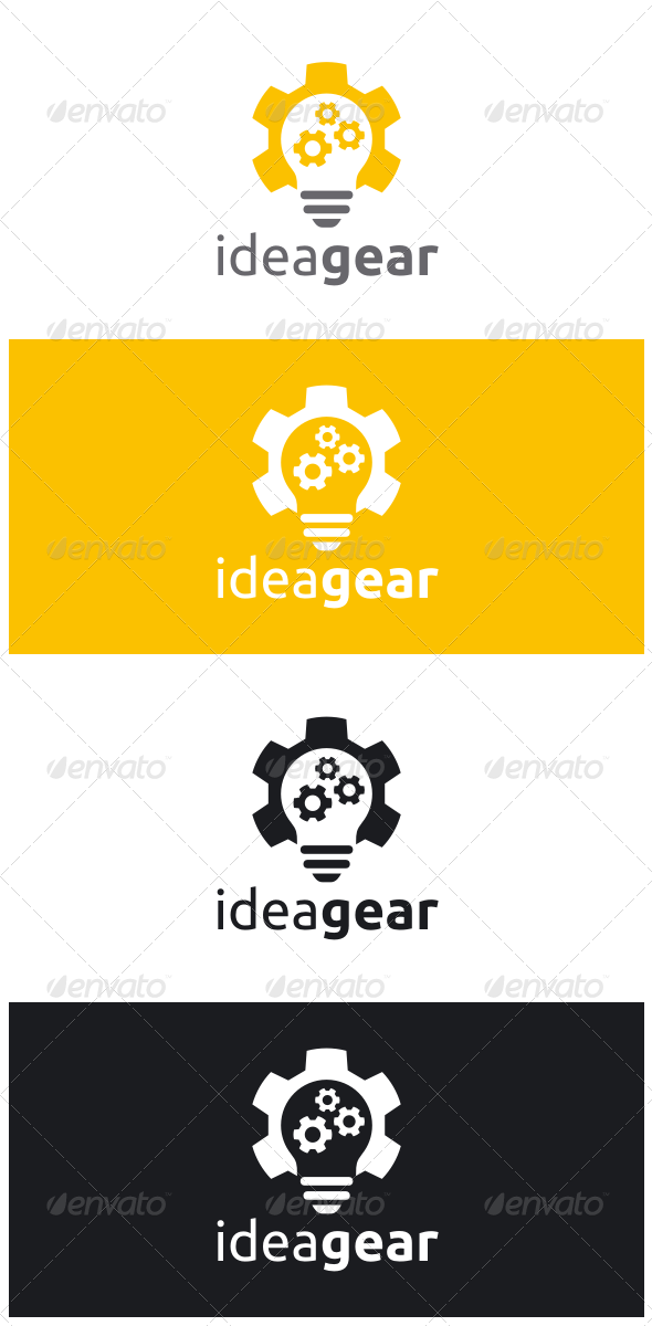 GraphicRiver Idea Gear Logo 8544750