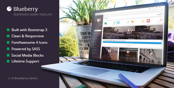 ThemeForest Blueberry Responsive Admin Template 8523591
