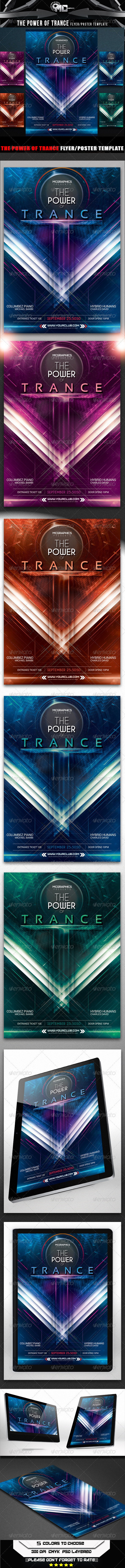 The Power of Trance Flyer Poster Template