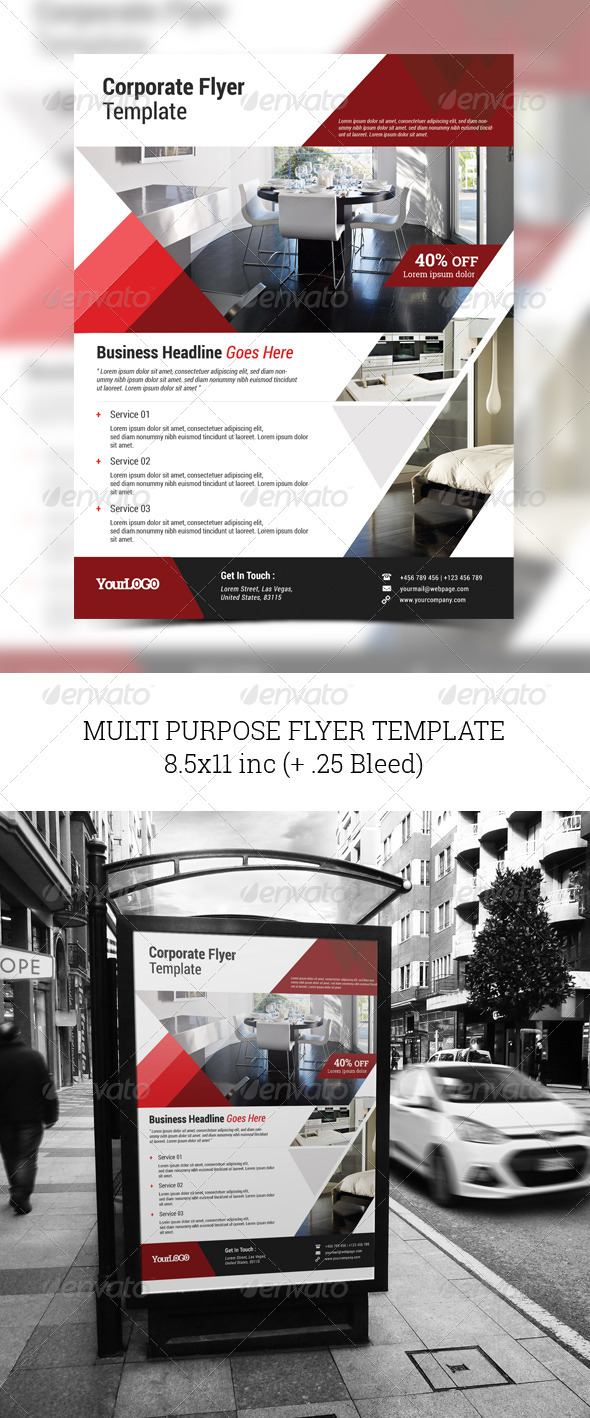 GraphicRiver Multi Purpose Flyer Template 8541463