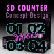 3D Counter Concept Design 129 Vol.1 - 3DOcean Item for Sale