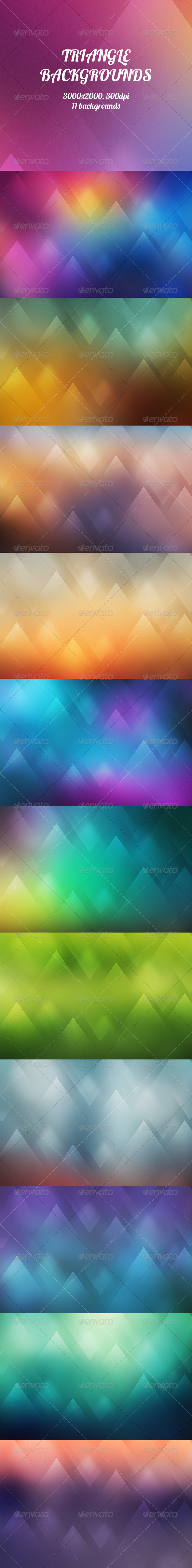GraphicRiver Triangle Backgrounds 8545289