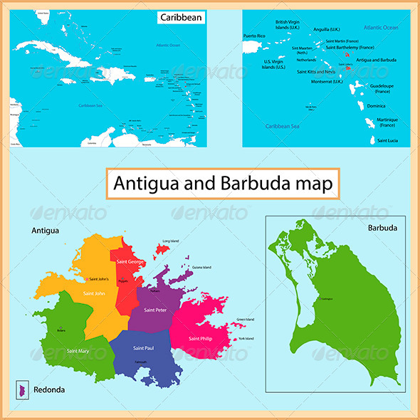 GraphicRiver Antigua and Barbuda map 8545300