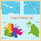 Antigua and Barbuda map - GraphicRiver Item for Sale