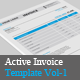 Active Invoice Templates Vol-1 - GraphicRiver Item for Sale