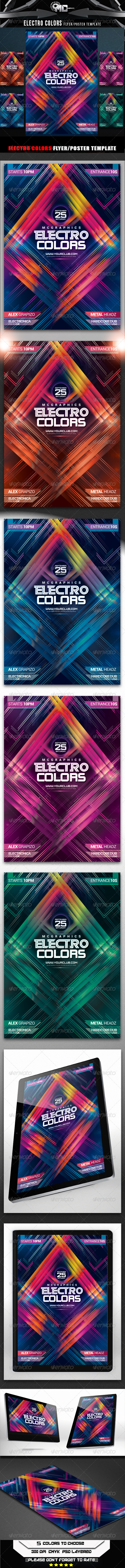 GraphicRiver Electro Colors Flyer Poster Template 8545314