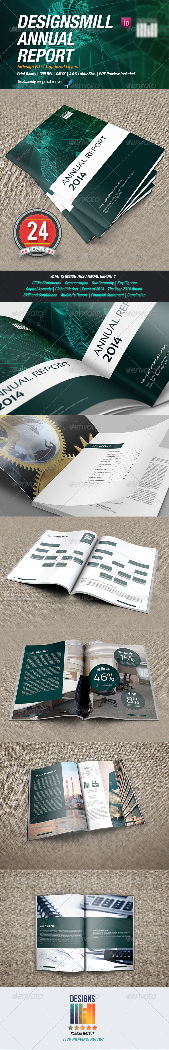 GraphicRiver DesignsMill Annual Report 8539510