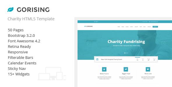 Gorising - Charity | Nonprofit | Fundraising HTML - Charity Nonprofit