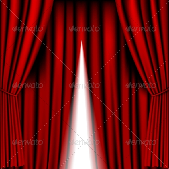 GraphicRiver Opening Red Curtain 8545455