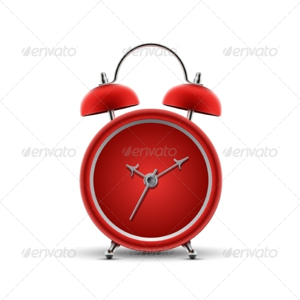 GraphicRiver Red Alarm Clock 8545456