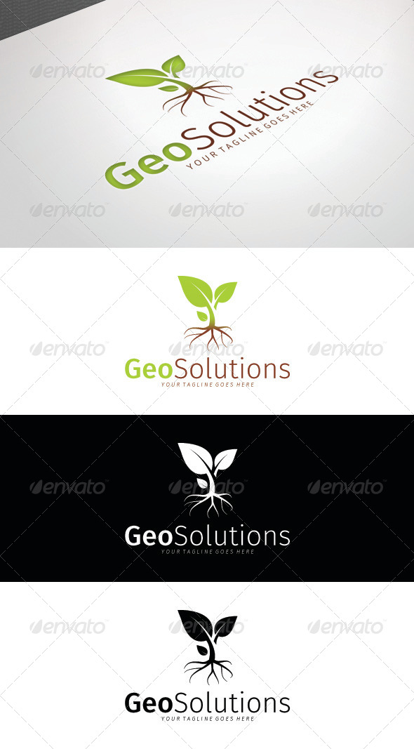 Geo Solutions Logo Template