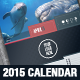 Stylish Corporate 2015 Calendar Template - GraphicRiver Item for Sale